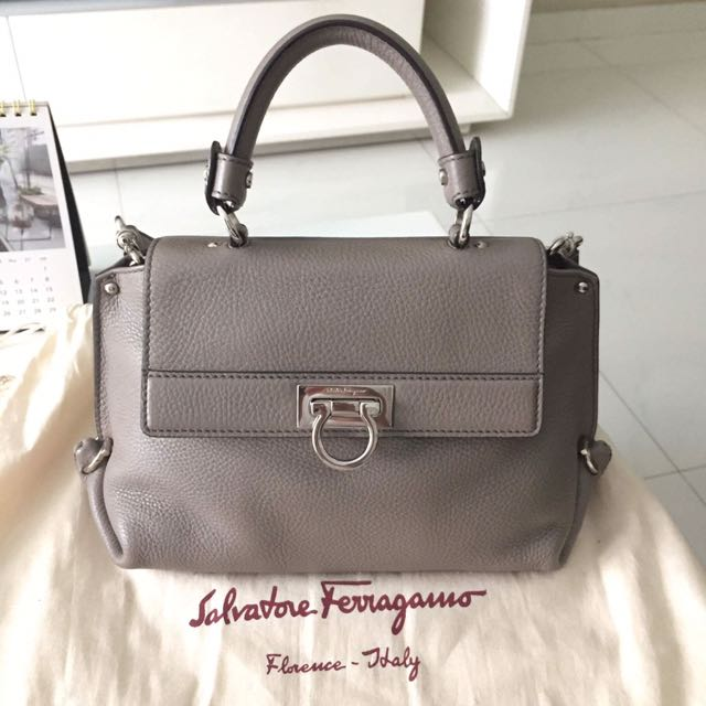 Salvatore Ferragamo Top Handle Bag, Luxury, Bags   Wallets on Carousell 288cfa50bc