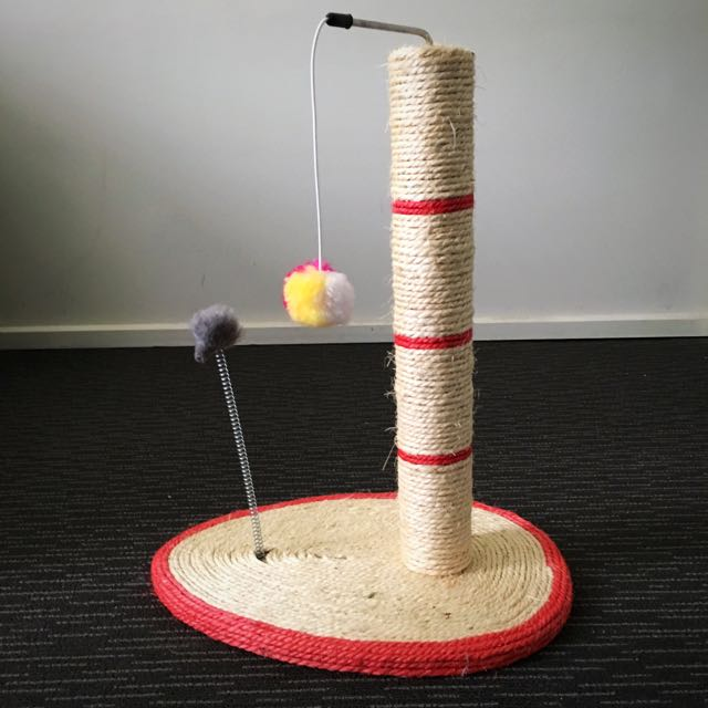 Scratching Post With Toys