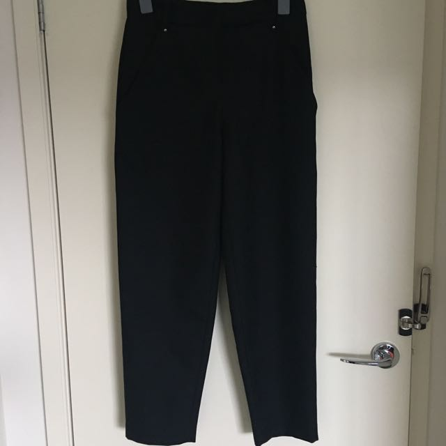 SEED Black Trouser Pant Size 8