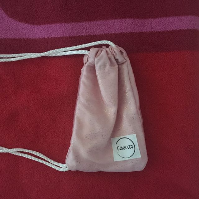 Small CousCous Pink And Gold Shoulder Bag