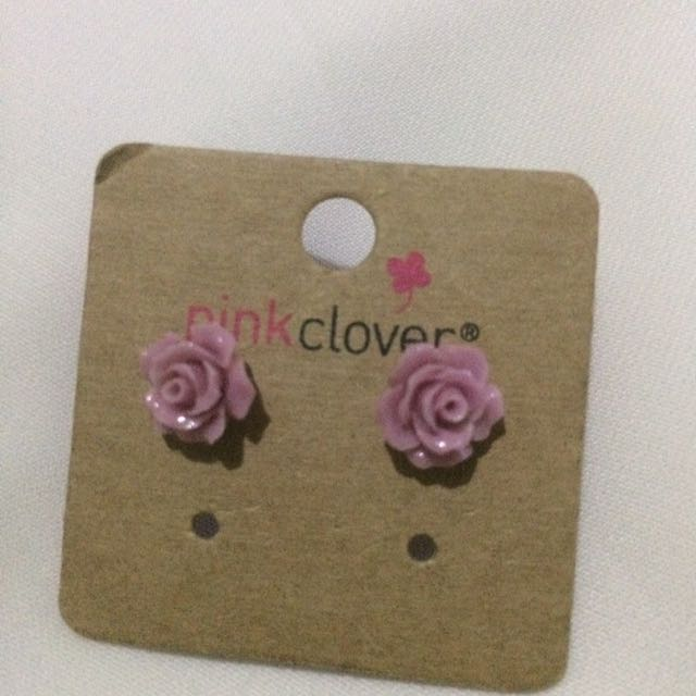 Soft Pink Rose Earrings