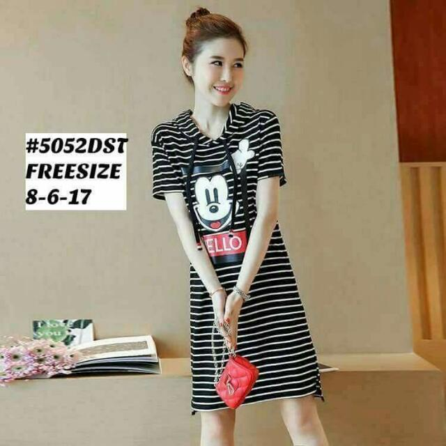 Stripes Mickey Mouse Dress Women S Fashion Clothes Dresses