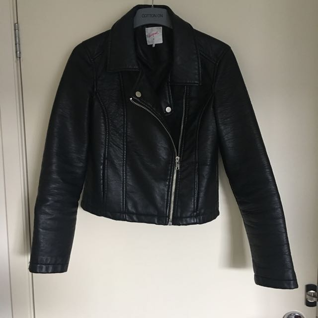 Supre faux leather Jacket Black Size S