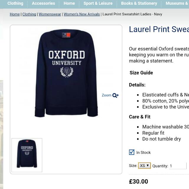 Sweatshirt OXFORD University
