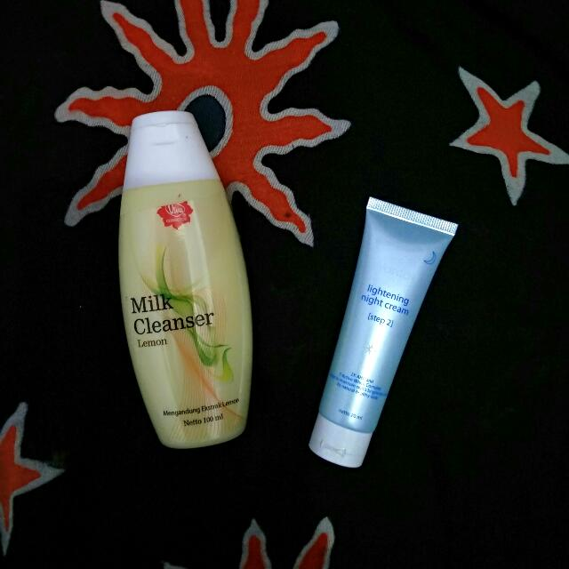 #tisgratis Viva Milk Cleanser & Wardah Lightening Night Cream