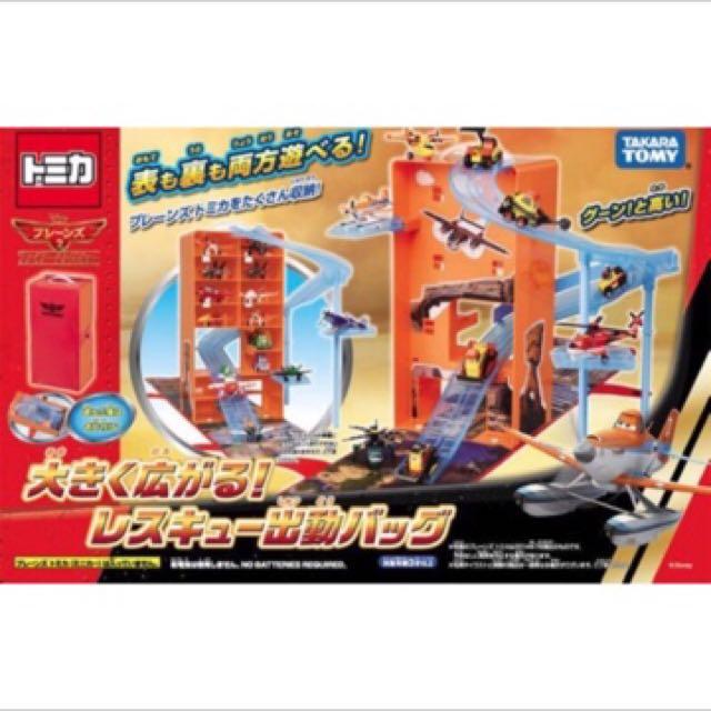 日本tomy takara飛機總動員翱翔天空可收納手提盒