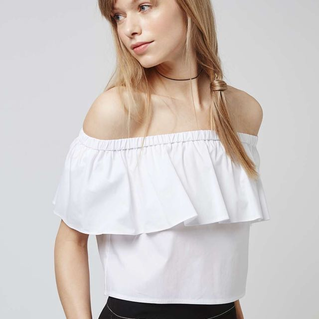 Topshop Off the shoulder Bardot Blouse
