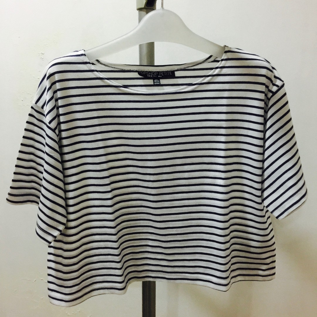 Topshop Striped Crop Top
