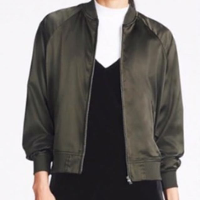 4a3a29f1f Uniqlo Satin Bomber Jacket