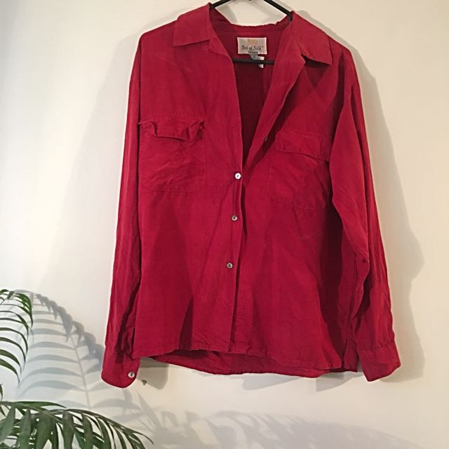Vintage 100% Silk Shirt