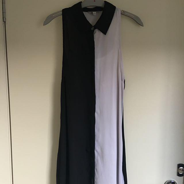 VOLCOM Black And White Dress Size 12