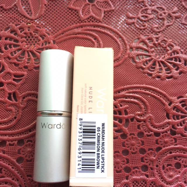Wardah Nude Lipstick 05 Crimson Brown
