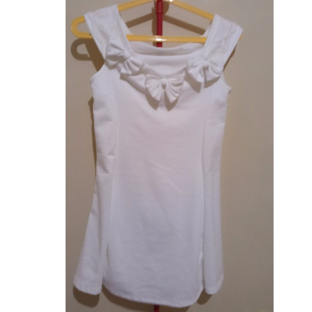 White Blouse with Ribbons - D001
