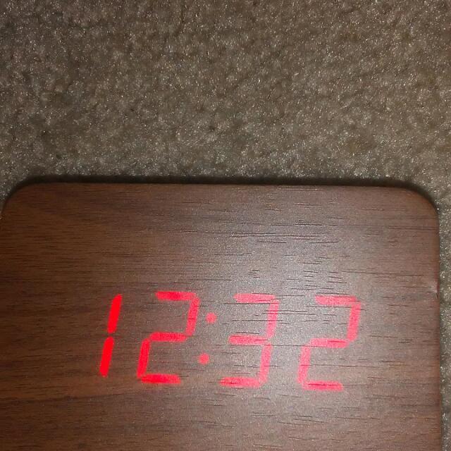 wood alarm clock