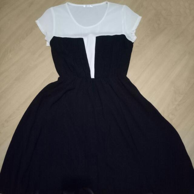 Xara Black And White Dress