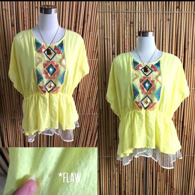 Yellow Butterfly Blouse