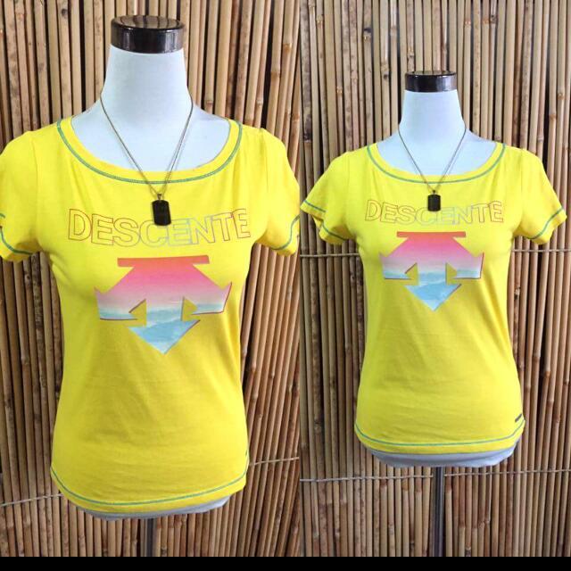 Descente Yellow Shirt