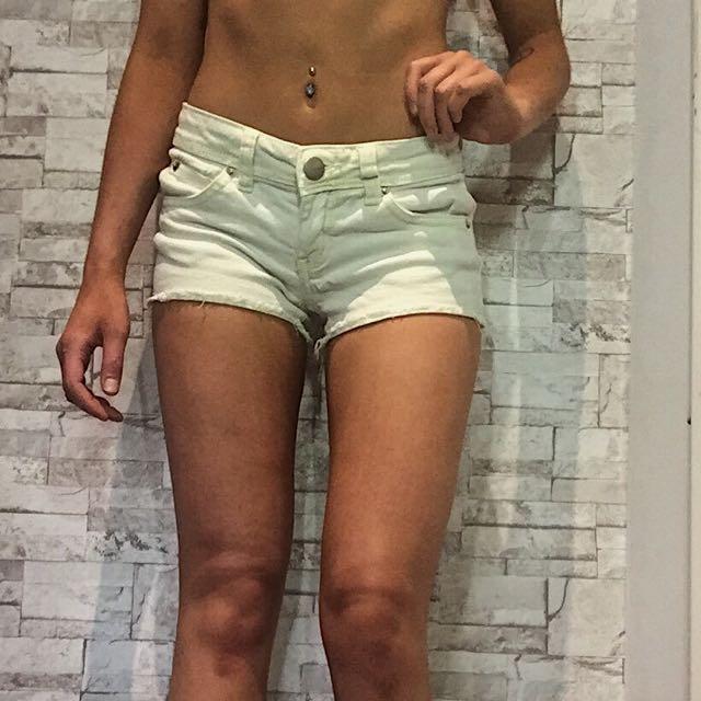 Yellow Shorts; Size 0