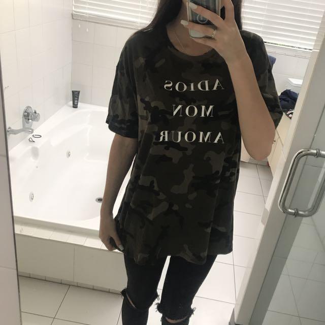 Zara Camo Top
