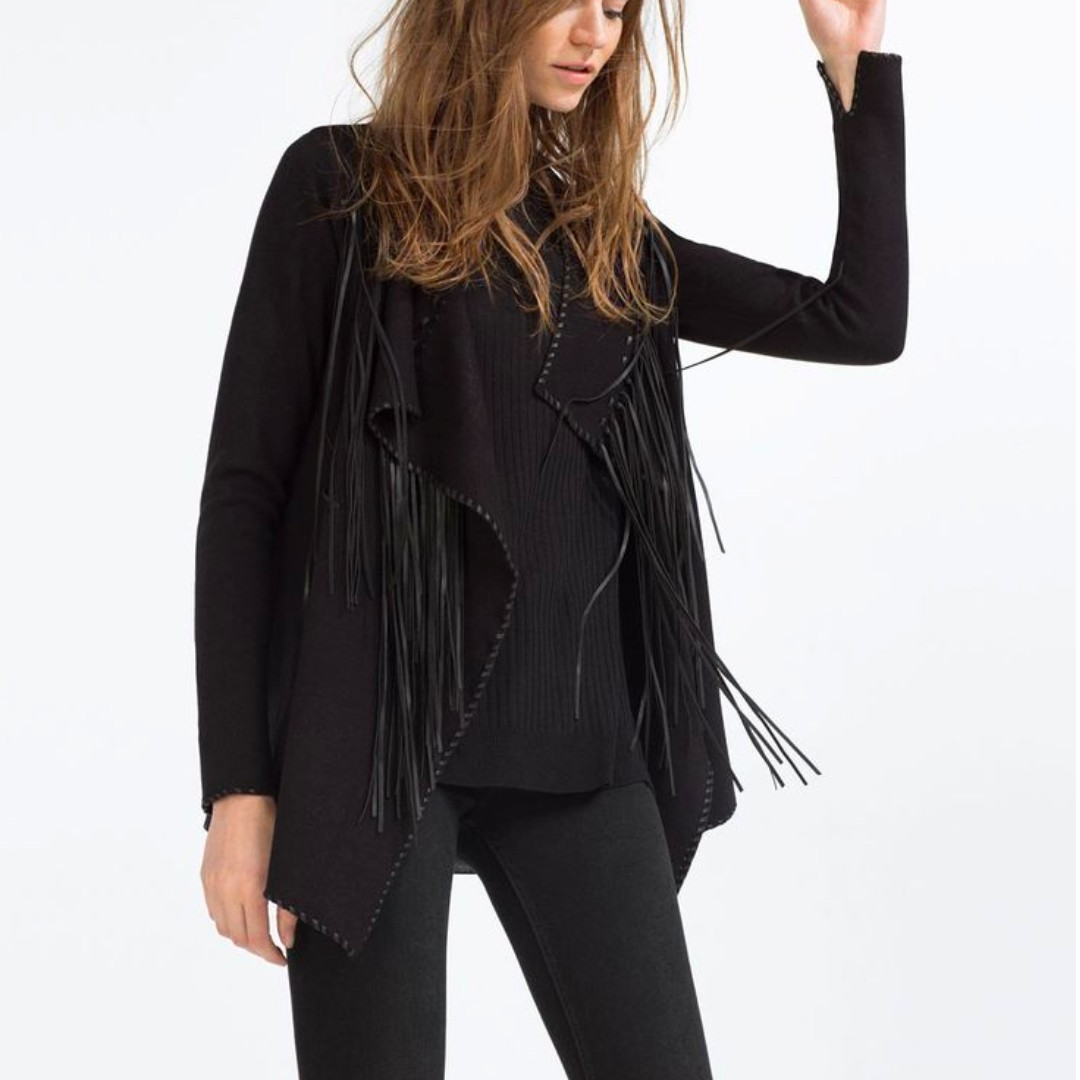 Zara fringed jacket