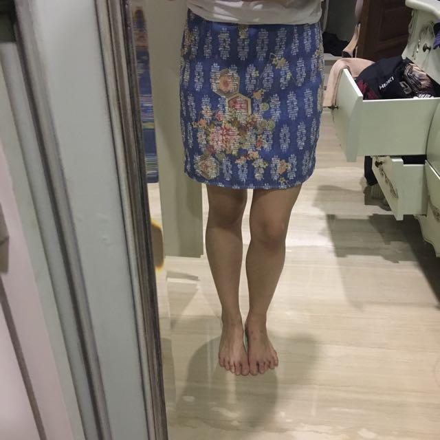 Zara Original Embroidery Skirt