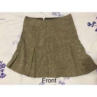 Light Brown Wool Skirt