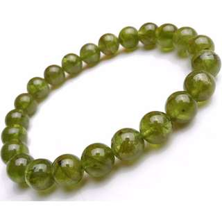 Natural Peridot Fortune Bracelet for Harmony and Compassion