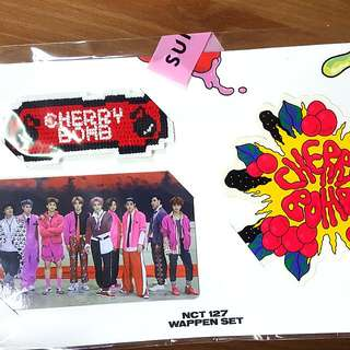 NCT 127 Cherry Bomb Wappen Set ( Group Photocard )