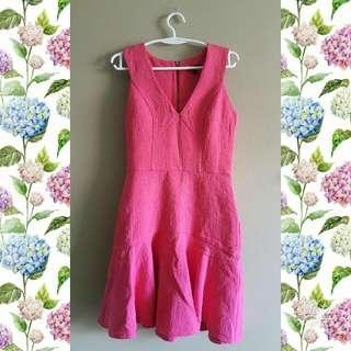 Hot Pink Tight Dress