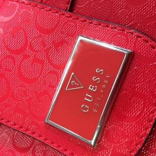 GUESS Red Tote
