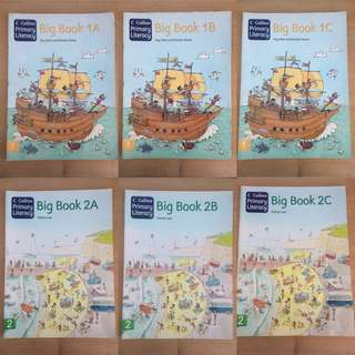Collins Primary Literacy Big Book 1A,1B,1C,2A,2B,2C with Pupil Book 1B,1C,2