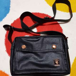 Authentic Porter International Mori Black Small Sling Bag (Rose Gold Edition)