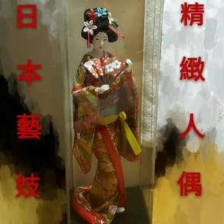 日本藝妓娃娃裝飾人偶擺飾日本料理和式收藏和服藝妓頭飾