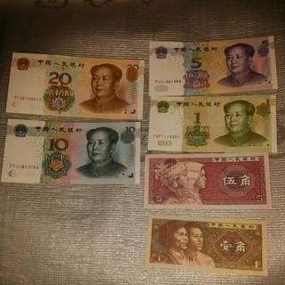 全新直版人民幣 6種面值