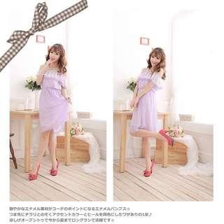 全新日本Usamimi桃紅色高踭鞋
