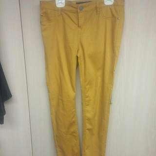 Mustard Skinny Pants