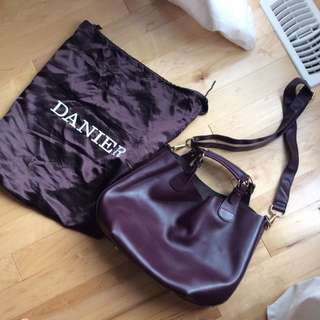 Danier Deep Purple leather Handbag/cross Body