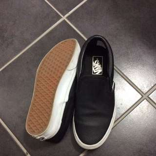 Vans Perforated Black Slip Ons