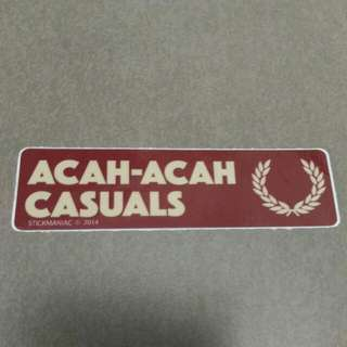 ACAH-ACAH CASUALS Fred Perry Sticker