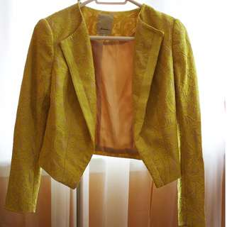 Anthropologie Eleventy Lace Blazer