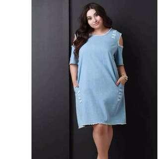 US Plus Size Denim Dress
