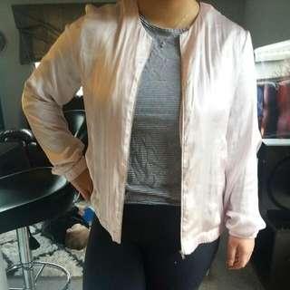 Silky Bomber Jacket Style Cardigan