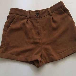 Brown Trouser Shorts