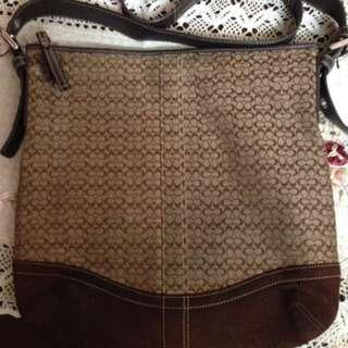 Original Coach Signature Duffle Large Sling Bag Not Spade Kors Dooney Lacoste
