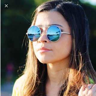 Blue Circle Sunglasses