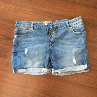 Stradivarius Denim Shorts Size Euro 36