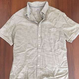 Marks & Spencer Tailored Fit Gray Polo Shirt SiZe L