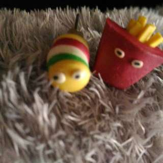 Burger and fries Earring