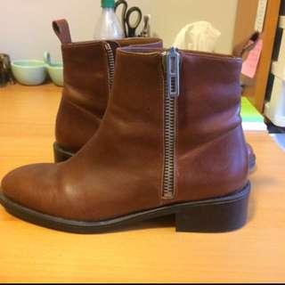 Brown Zara Booties Size 9