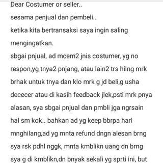 Attention Seller/buyer